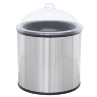 Carlisle Black 3 Gallon Coldmaster Ice Cream Cold Crock with Lid and Stainless Steel Shroud
