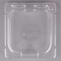 Carlisle CM10319Z07 Coldmaster EZ Access 1/6 Size Clear Polycarbonate Food Pan Lid with Notch