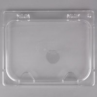 Carlisle CM10239Z07 Coldmaster EZ Access 1/2 Size Clear Polycarbonate Food Pan Lid with Notch