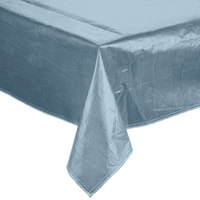 Intedge Blue Vinyl Table Cover with Flannel Back, 25 Yard Roll