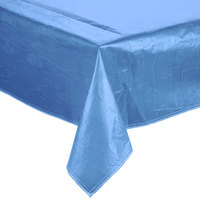 Blue Vinyl Table Cover with Flannel Back - 25 Yard Roll