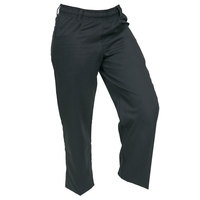 Mercer M60060BKXXS Millennia Women's 21 inch XXS Black Poly-Cotton Cook Pants