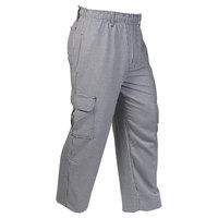 Mercer Culinary M61051HTXS Genesis Unisex 24 inch XS Hounds Tooth Poly-Cotton Cargo Pants