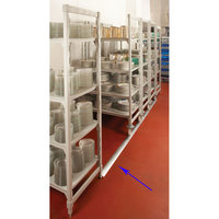 Cambro Camshelving Premium CSMHDTK10000 10' Aluminum Track Kit