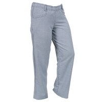 Mercer M61070HTXS Genesis Women's 22 inch XS Hounds Tooth 100% Cotton Chef Pants