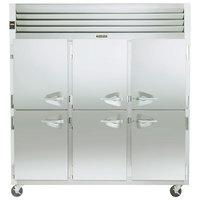 Traulsen G31001 3 Section Half Door Reach In Freezer - Left / Left / Right Hinged Doors
