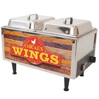 Benchmark USA 51072W 12 inch x 20 inch Chicken Wing Warmer - 120V, 1200W