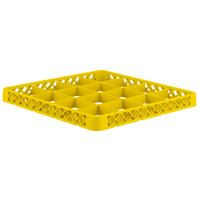 Vollrath CRD-08 Traex® 16 Compartment Yellow Full-Size Closed Wall Extender