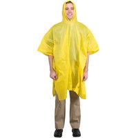 Yellow Economy Rain Poncho - 52 inch x 80 inch