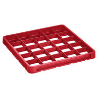 Vollrath CRB-02 Traex® 25 Compartment Full-Size Red Closed Wall Extender