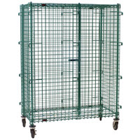 Eagle Group CSC2436E Mobile Green Epoxy Security Cage - 27 1/4 inch x 39 1/4 inch x 69 inch