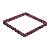 Vollrath CRJ-21 Traex 12 Compartment Full-Size Burgundy Closed Wall Extender