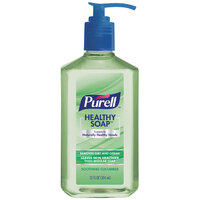 Purell 9702-12 Healthy Soap 12 oz. Soothing Cucumber Hand Soap with Pump - 12/Case