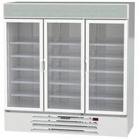 Beverage-Air LV72HC-1-W LumaVue 75 inch White Refrigerated Glass Door Merchandiser with LED Lighting