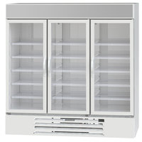 Beverage-Air LV72HC-1-W LumaVue 75 inch White Refrigerated Glass Door Merchandiser with LED Lighting