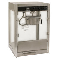 Benchmark USA 11087 Silver Screen 8 oz. Stainless Steel Popcorn Machine - 120V, 1510W