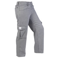 Mercer Culinary M61071HTL Genesis Women's 28 inch L Hounds Tooth Poly-Cotton Cargo Pants