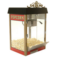 Benchmark USA 11060 Street Vendor 6 oz. Red Popcorn Machine - 120V, 1180W