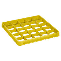 Vollrath CRB-08 Traex® 25 Compartment Full-Size Yellow Closed Wall Extender