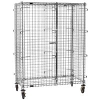 Eagle Group CSC2448 Mobile Chrome Security Cage - 27 1/4 inch x 51 1/4 inch x 69 inch