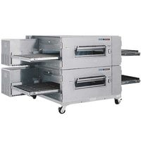 Lincoln Impinger 3240-2 40 inch Single Belt Electric Double Conveyor Oven Package - 208V, 3 Phase, 48 kW