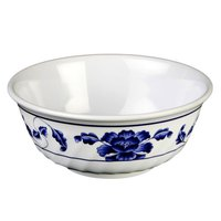 Thunder Group 5307TB Lotus 32 oz. Round Melamine Swirl Bowl - 12/Case