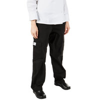 Mercer Culinary M61100BKL Genesis Women's 28 inch L Black Poly-Cotton Cargo Pants