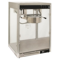 Benchmark USA 11147 Silver Screen 14 oz. Stainless Steel Popcorn Machine - 120V, 1760W