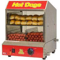 Benchmark USA 60048 Dog Pound 164 Dog / 36 Bun Hot Dog Steamer - 120V, 1170W