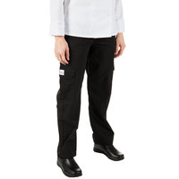 Mercer Culinary Genesis® Women's Black Cargo Pants - XXS