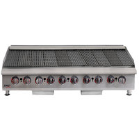 APW Wyott HCRB-2460i Natural Gas 60 inch HD Cookline Lava Rock Charbroiler - 200,000 BTU