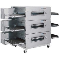 Lincoln Impinger 3240-3 Natural Gas 40 inch Single Belt Triple Conveyor Oven Package - 345,000 BTU