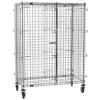 Eagle Group CSC2436 Mobile Chrome Security Cage - 27 1/4 inch x 39 1/4 inch x 69 inch
