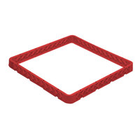 Vollrath CRE-02 Traex® 49 Compartment Red Full-Size Closed Wall Extender