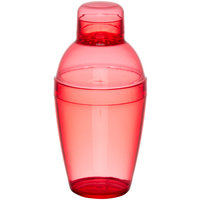 Fineline Quenchers 4102-RD 10 oz. Red Plastic Shaker - 24/Case