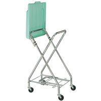 CSL 50616061 17 1/2 inch x 17 1/4 inch x 36 1/2 inch Zinc Plated Hamper Stand with Cover
