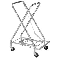 CSL 50617061 17 1/2 inch x 17 1/4 inch x 36 1/2 inch Zinc Plated Hamper Stand with Foot Pedal