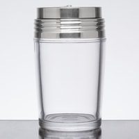American Metalcraft GLADT6 6 oz. Clear Glass Contemporary Shaker with Adjustable Stainless Steel Dial Top