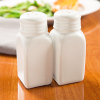 American Metalcraft CSP 2.5 oz. White Ceramic Salt and Pepper Shaker Set