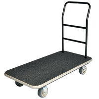 CSL 2100GY-090-BLK 37 inch x 43 inch x 22 inch Black Carpet General Purpose Utility Cart with 5 inch Polyurethane Casters