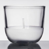 Sterno Products 40110 PetiteLites 5 Hour Clear Wax Filled Glass Candle - 24/Pack