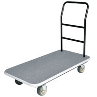 CSL 2100GY-090-GRY 37 inch x 43 inch x 22 inch Gray Carpet General Purpose Utility Cart with 5 inch Polyurethane Casters