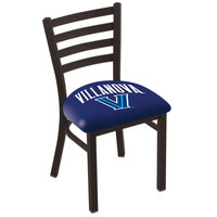 Holland Bar Stool L00418Vilnva Black Steel Villanova University Chair with Ladder Back and Padded Seat