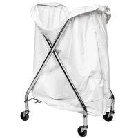 CSL 50611044 17 1/2 inch x 17 1/4 inch x 36 1/2 inch Zinc Plated Hamper Stand and Hamper Bag