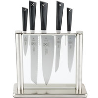 Mercer Culinary M19100 ZüM® 6-Piece Stainless Steel and Glass Knife Block Set