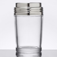 American Metalcraft 4406 6 oz. Clear Glass Contemporary Cheese Shaker with Stainless Steel Top