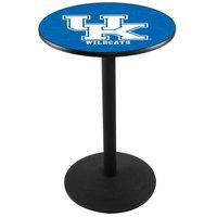 Holland Bar Stool L214B36UKY-UK 28 inch Round University of Kentucky Pub Table with Round Base