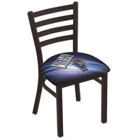 Holland Bar Stool L00418Vilnva-D2 Black Steel Villanova University Chair with Ladder Back and Padded Seat