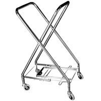 CSL 5061 17 1/2 inch x 17 1/4 inch x 36 1/2 inch Zinc Plated Hamper Stand for 18 inch, 22 inch, or 25 inch Bags