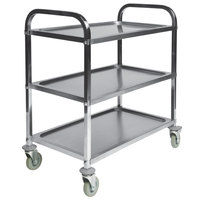 CSL 6300 36 inch x35 inch x 21 inch Stainless Steel Service Cart with Casters